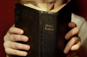 flipping through Bible